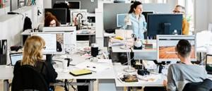 Oppet kontorslandskap